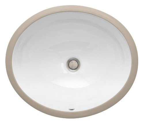 St. Thomas Creations 1060.000.01 Vanity Petite Round Undermount Lavatory Sink With Overflow, White Finish