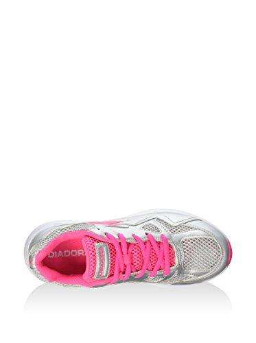 Diadora Zapatillas Shape 5 Jr Plata/Rosa Flúor EU 35 (2.5 UK)