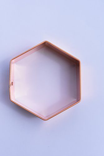 ecrandal Hexagon copper cookie cutter
