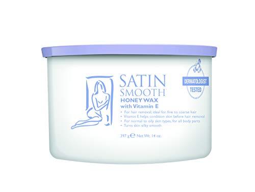 Satin Smooth Honey Wax with Vitamin E, 14 Ounce ()