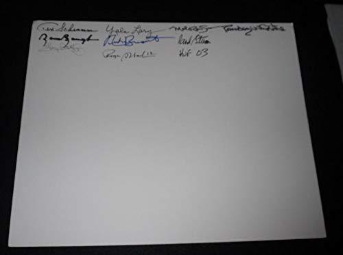 (Football Hall of Fame HOF Signed 16x20 Board JSA LOA Dorsett Baugh Staubach + 6)