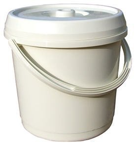 14 Litre Nappy Bucket with Lid - Cream unbranded w0703cream