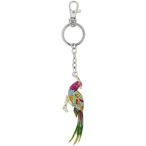 Amazon.com: Multi Color Bird Parrot Cadena de clave, llavero ...