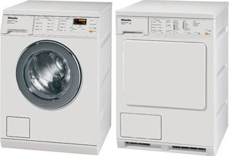 Miele Laundry Gather together | Miele W3038 Washer & Miele T8023C Electric Ventless Dryer