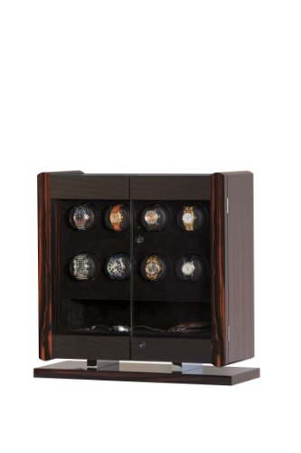 - Avanti 8 Rotorwind Watch Winder in Italian-made Macassar Veneer and Carbon Fiber Cabinet