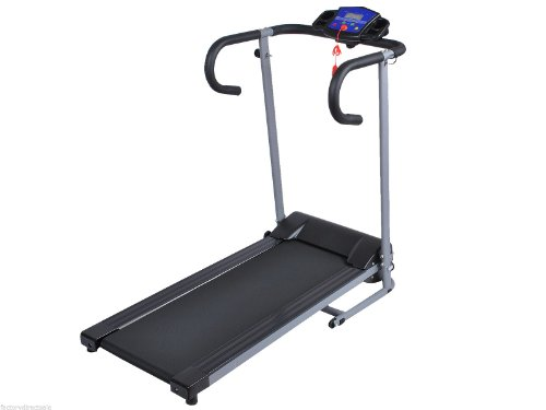 HPD 1100W Folding Electric Treadmill Portable Motorized Running Machine (Black)