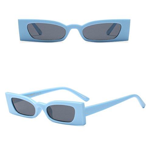 pour Designer de Rétro Lunettes Rectangle Femmes Zhhlinyuan UV400 Dames Mode Blue Soleil X0nanz6