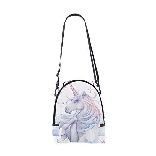 aquarelle dans épaule à Sac réglable pour Licorne Sangle déjeuner pique nique le double Cheval ciel Cooler wrr0qfI
