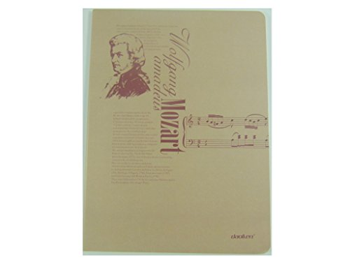 UPC 715547816068, Music Themed Thread Sewn Note Book Size: 191mm x 250mm - Wolfgang Mozart Design