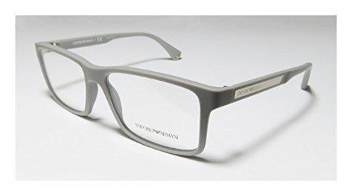 Emporio Armani 3038 Mens Designer Full-rim EyeglassesEyeglass Frame (56-16-140 Gray)
