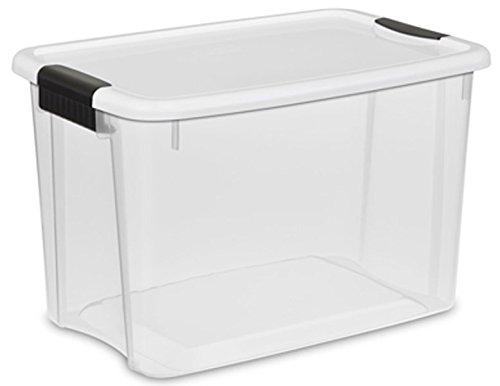 STERILITE 14083 30 Qt. Ultra Latch Box, White