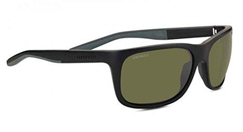 - Serengeti Classic Nylon Ettore Sanded Black/Grey Polarized 555nm Sunglasses