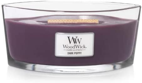 WoodWick Dark Poppy Hearthwick Ellipse Candle 16 oz.