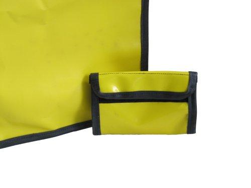 Tubeline Shopper, Tasche aus LKW Plane und Fahrradschlauch, inkl. Innentasche - 45x30 cm - Farbe Gelb