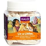 Halo Liv-a-Littles, 100% Freeze Dried White Meat Chicken Protein Treats 2.2 oz Pack of 6, My Pet Supplies