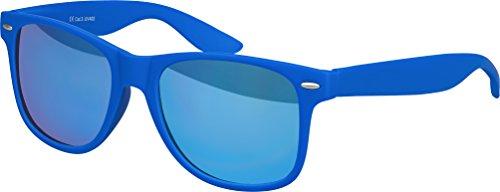 Gomme miroir 101 Vintage Rétro Lunettes bleu au couleurs Charnière qualité effet à Modèles De ressort plusieurs choix Nerd haute Lunettes mat Unisexe Bleu Soleil Balinco 8SpZq0WzS