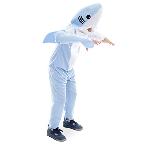 Boo! Inc. Ferocious Shark Halloween Costume | Kids Unisex (7-9) -