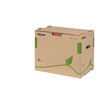 Esselte Eco 623920 - Caja para guardar archivadores, color marrón: Amazon.es: Oficina y papelería