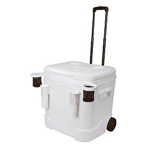 Igloo Ice Cube Marine Ultra Roller Cooler (60 Quart, White)