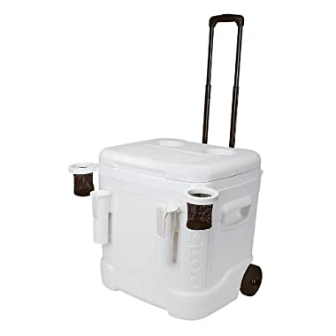 Igloo Ice Cube Marine Ultra Roller Cooler (60 Quart, White)