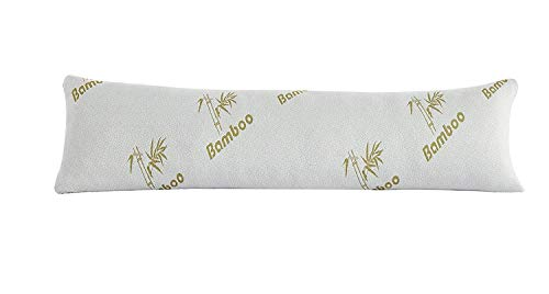"The Liquidator Collections Bamboo Combination Shredded Memory Foam Full 16""X48"" Body Pillow with Hypoallergenic Outer Fabric with Removable Zipper Pillow"