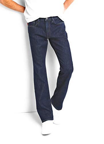 GAP Mens Jeans, 1969, Rinse Dark Wash in Boot Fit, Non-Stretch (36x30)