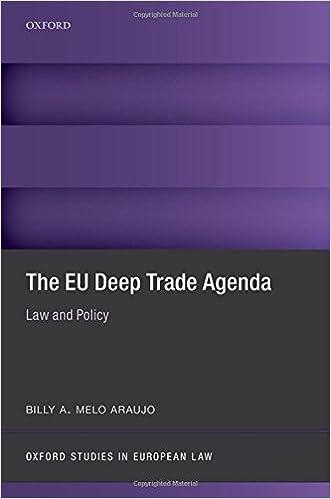 Amazon.com: The EU Deep Trade Agenda: Law and Policy (Oxford ...