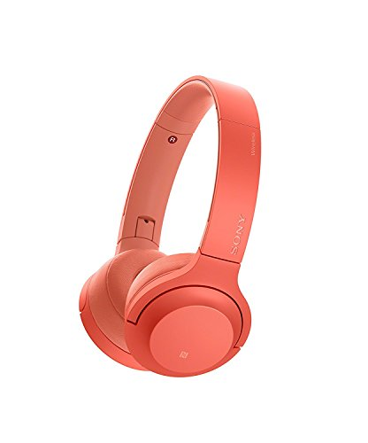 Sony WH-H800 h.ear Series Wireless On-Ear High Resolution Headphones (International version/seller warranty) (Red) by Sony