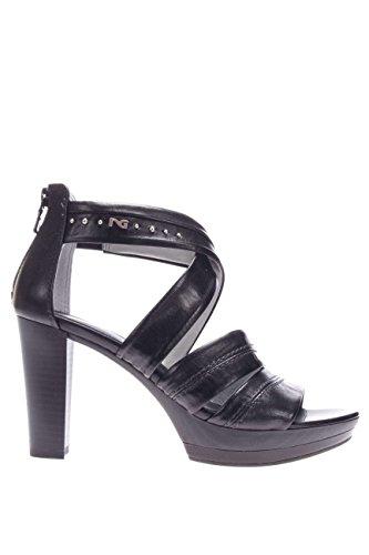 de Sandalias Nero para 37 mujer Giardini Piel vestir de Size Negro negro Negro 37 HII5rw