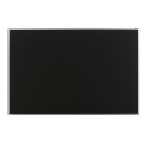 Marsh Pro-Lite 60''x72'' Black Porcelain Chalkboard, Contractor with Hanger Bar Aluminum Trim / 1'' Map Rail by Marsh