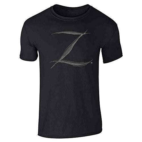 Pop Threads Zorro Big Cut Z Halloween Costume Black L Short Sleeve T-Shirt