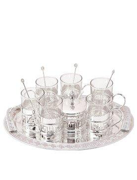 9707f10994853 Buy Ekaani Silver Kawa Tea Set