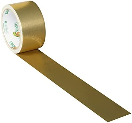 1.88 in Gold Geometric- Pаck of 1 x 10 yds Duck 241794 Printed Duct Tape