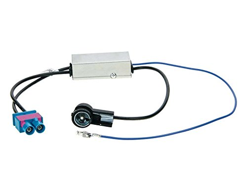 ACV Electronic Adaptateur d'antenne ISO double Fakra Z avec alimentation fantôme et fonction diversity pour Audi Seat Skoda VW 1524-88