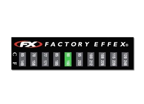 FACTORY EFFEX TEMPERATURE GAUGE STICKER 3 PACK