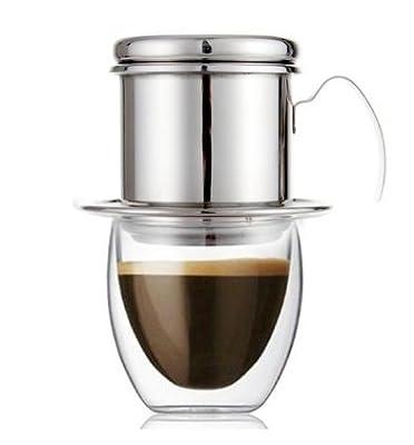 Stainless Steel Vietnamese Coffee Drip Filter Maker Infuser Set