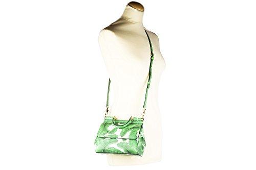 Dolce&Gabbana borsa donna a mano shopping in pelle nuova dauphine foglie sicily