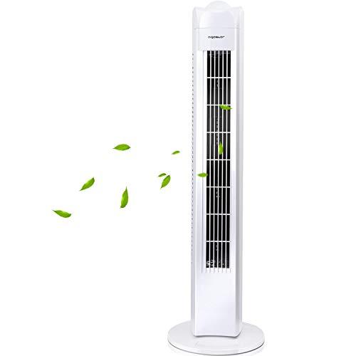 🥇 Aigostar Duke 33QRV – Ventilador de torre oscilante