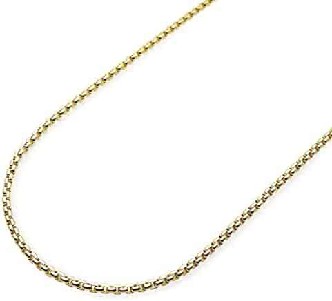49dbc402e 14K Yellow Gold Round Box Chain Lobster Clasp 2mm 26