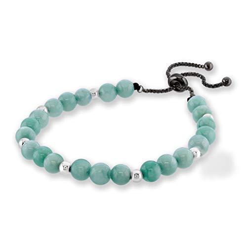 Believe London Aquamarine Gemstone Bracelet Healing Bracelet Chakra Bracelet Anxiety Crystal Natural Stone Men Women Stress Relief Reiki Yoga Diffuser Semi - Crystal Aquamarine Bracelet