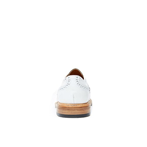 Brits Paspoort Bp7141, Mannen Lace Up Brogues Wit Bianco