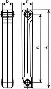 6 Section , Bimetal, Wall-hung ,Aluminum Heating Radiator. by Yanex Industries (Image #6)