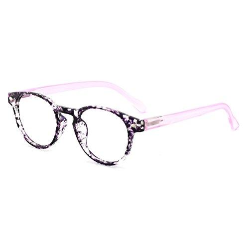 Photochromic Glass - OCCI CHIARI Lightweight Designer Acetate frame Stylish Reading Glasses For Women (15006- Purple(Anti blue light+Photochromism), 0.00)