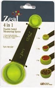 MEASURING SPOON 4-IN-1 by ZEAL MfrPartNo NB54DISP