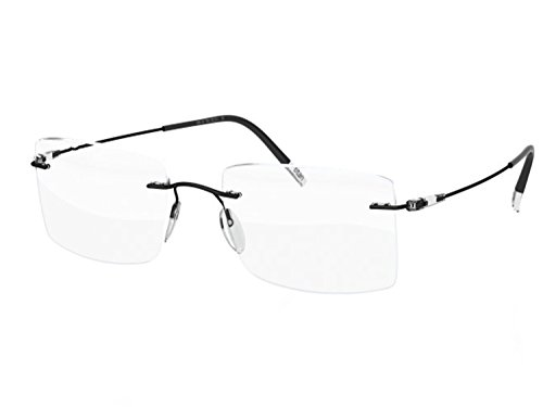Silhouette Eyeglasses DYNAMICS Colorwave 5500 with DEMO lens (black / clear 56mm-21mm-150mm, one color) 5500-BH-9140 ()