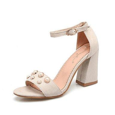 KYDJ @ Mujer-Tacón Robusto-Zapatos del club-Sandalias-Fiesta y Noche Vestido-Semicuero Black