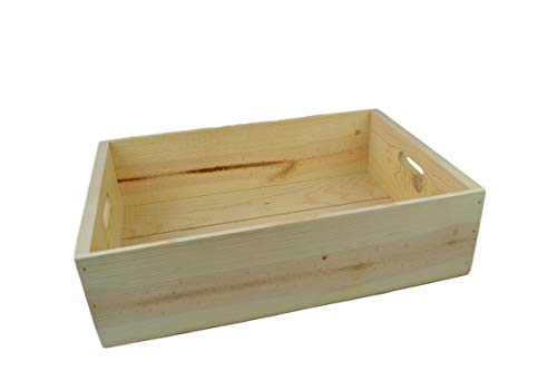 Wooden Wine Box 19.5x13.5x5.5 inside dimensions