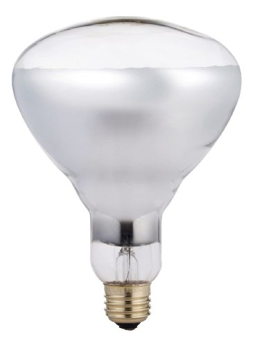 Philips BR40 Heat Lamp Light Bulb: 250-Watt, Infrared, E26 Medium Screw Base