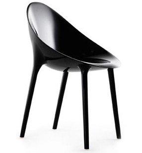 Kartell Super imposible sillón por Philippe Starck negro ...