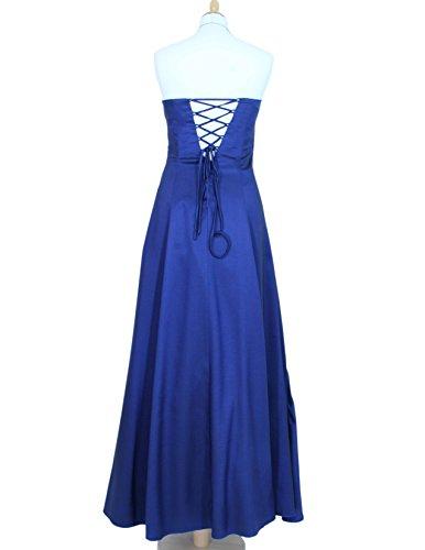 34 42 mit Perlen Satin blau Abendkleid Langes und abnehmbaren Gr Trägern 2007 IqHPwnv